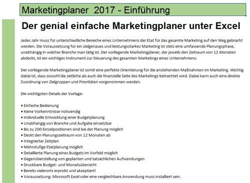 Marketingplaner