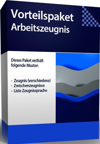 Vorteilspaket Arbeitszeugnis - Rechtsanwaltsfachangestellter/ Rechtsanwaltsfachangestellte (deutsch)