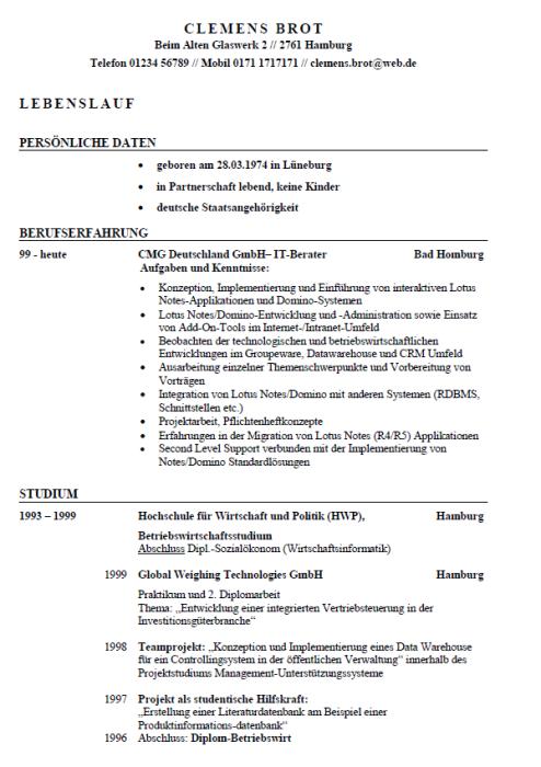 Bewerbung - IT-Berater, ungekündigt (Berufserfahrung)