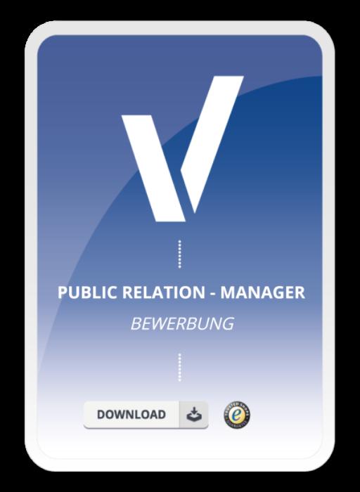 Bewerbung - Public Relation-Manager/in (Berufseinsteiger)