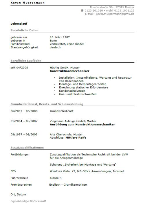 Bewerbung - Anlagenmonteur/in (Berufseinsteiger)