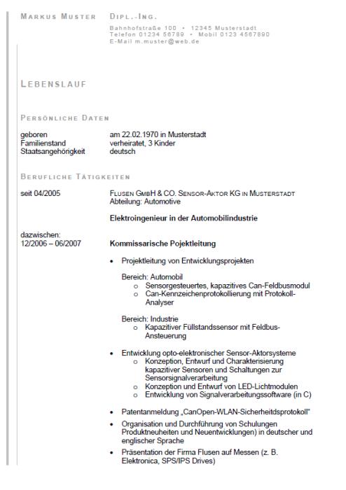 Bewerbung - Elektroingenieur, gekündigt (Berufserfahrung)