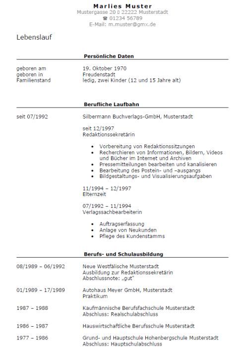 Bewerbung - Redaktionssekretärin, ungekündigt (Berufserfahrung)