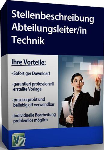 Stellenbeschreibung - Abteilungsleiter/in Technik