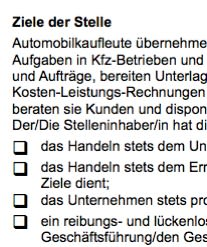 Stellenbeschreibung - Automobilkaufmann/-frau