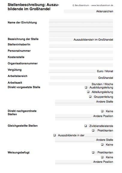 Stellenbeschreibung - Großhandelsauszubildende/r
