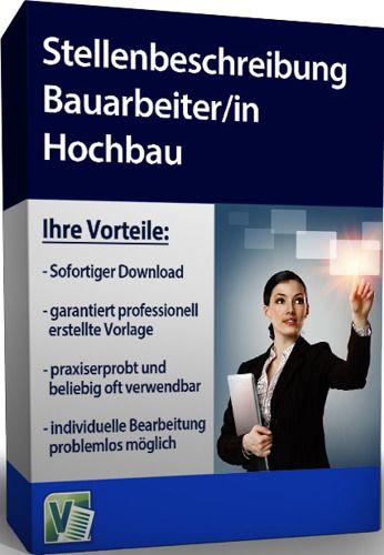 Stellenbeschreibung - Bauarbeiter/in Hochbau