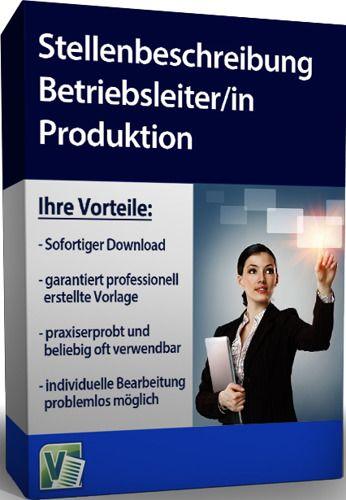 Stellenbeschreibung - Betriebsleiter/in Produktion