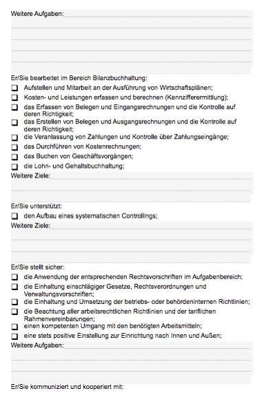 Stellenbeschreibung - Bilanzbuchhalter/in