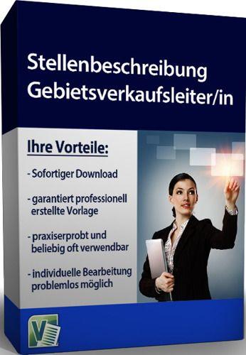 Stellenbeschreibung - Gebietsverkaufsleiter/in