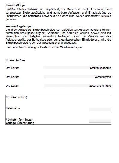 Stellenbeschreibung - Hauswirtschaftshelfer/in