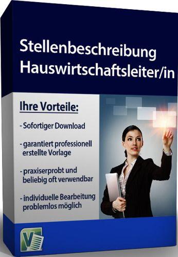 Stellenbeschreibung - Hauswirtschaftsleiter/in