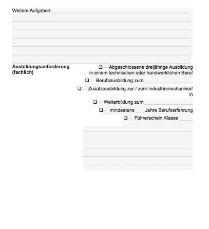 Stellenbeschreibung - Industriemechaniker/in