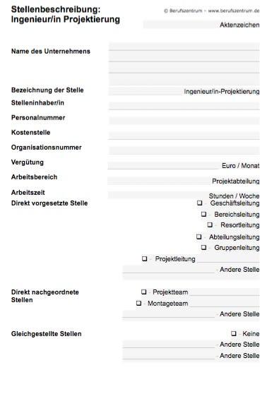 Stellenbeschreibung - Projektierungsingenieur/in