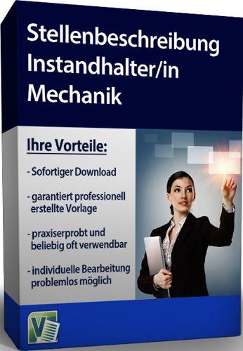Stellenbeschreibung - Instandhalter/in Mechanik