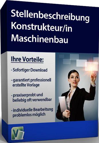 Stellenbeschreibung - Konstrukteur/in Maschinenbau