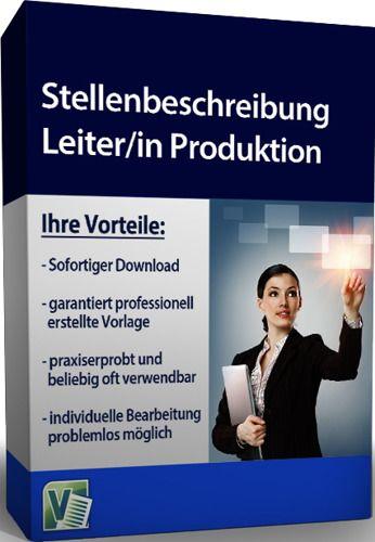 Stellenbeschreibung - Leiter/in Produktion