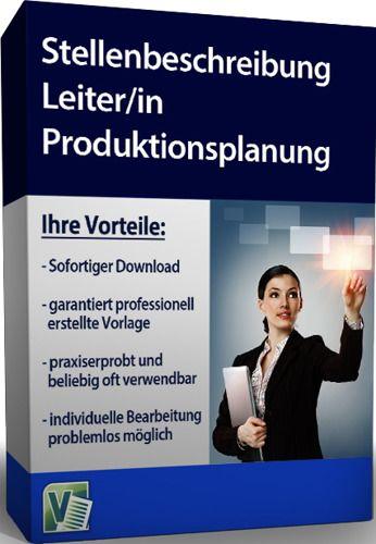 Stellenbeschreibung - Leiter/in Produktionsplanung