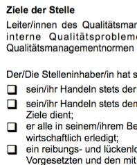 Stellenbeschreibung - Qualitätsmanagementleiter/in Fertigung