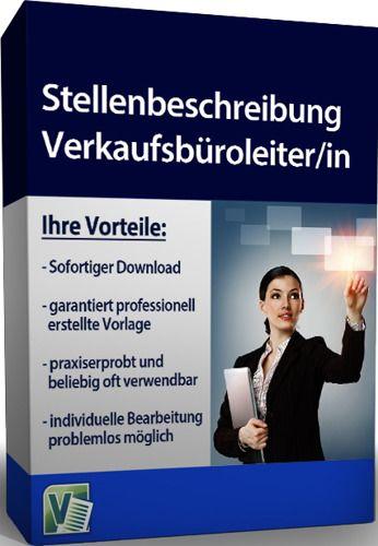 Stellenbeschreibung - Verkaufsbüroleiter/in