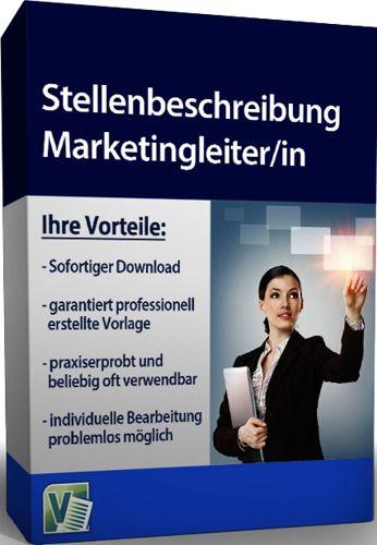 Stellenbeschreibung - Marketingleiter/in