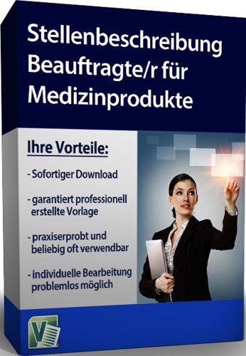 Stellenbeschreibung - Beauftragte/r für Medizinprodukte