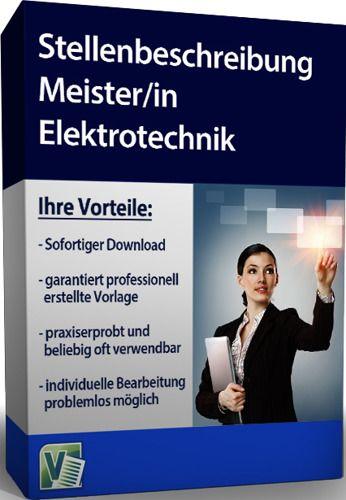 Stellenbeschreibung - Meister/in Elektrotechnik