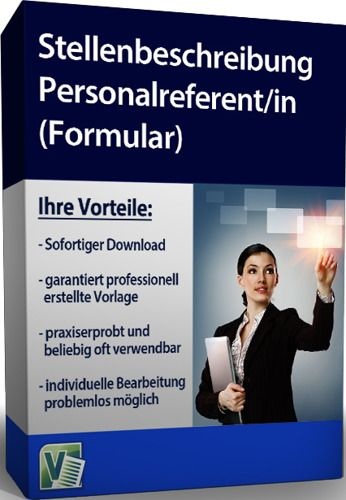 Stellenbeschreibung - Personalreferent/in (Formular)
