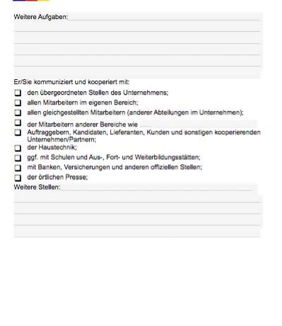 Stellenbeschreibung - Personalsachbearbeiter/in (Formular)