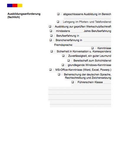 Stellenbeschreibung - Pförtner/in