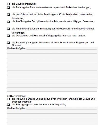 Stellenbeschreibung - Schulleiter/in für Berufsfachschule und Internat