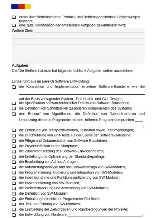 Stellenbeschreibung - Softwareentwickler/in