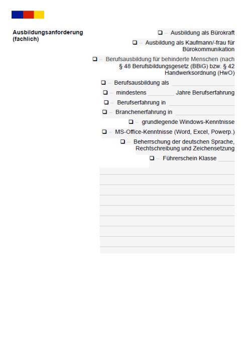 Stellenbeschreibung - Telefonist/in