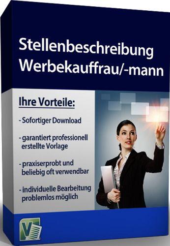 Stellenbeschreibung - Werbekauffrau/-mann