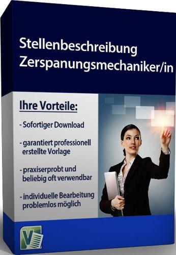 Stellenbeschreibung - Zerspanungsmechaniker/in (Formular)