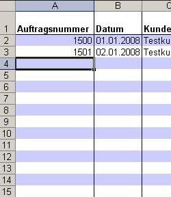 RS-Auftragsbuch in Excel