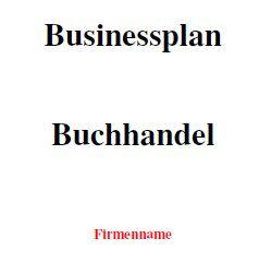 Businessplan - Buchhandel