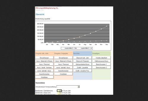 RS-Liquiditätsplanung XL (Excel-Vorlage)