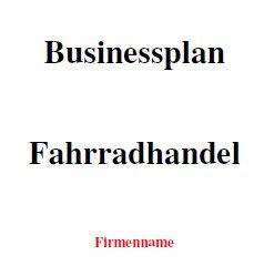 Businessplan - Fahrradhandel
