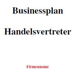 Businessplan - Handelsvertreter
