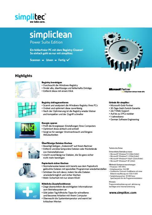 simplitec - simpliclean, simplisafe, simplifast
