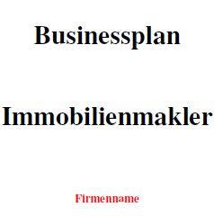 Businessplan - Immobilienmakler