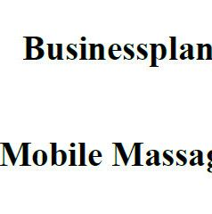 Businessplan - Mobile Massage