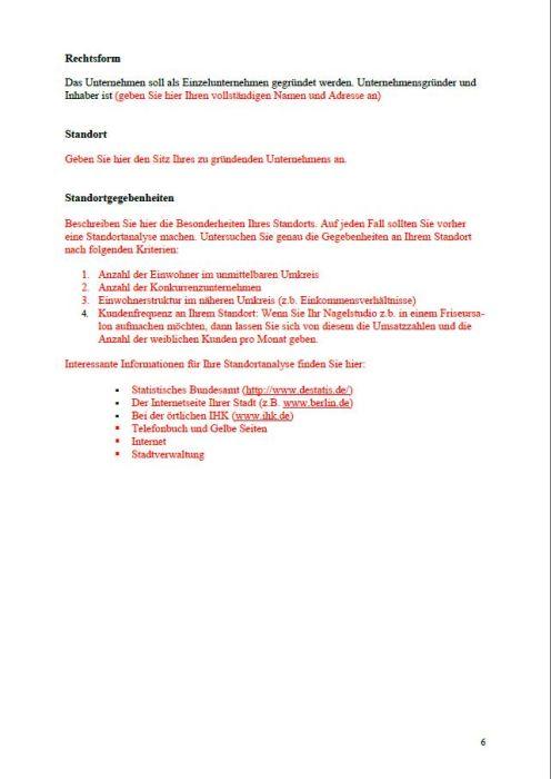 Businessplan Nagelstudio
