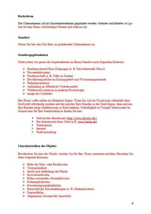 Businessplan - Psychologe