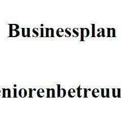 Businessplan - Seniorenbetreuung