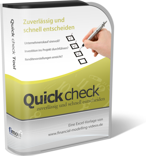Quick Check Excel-Tool - Einschätzung der Rentabilität von Kauf und Investition