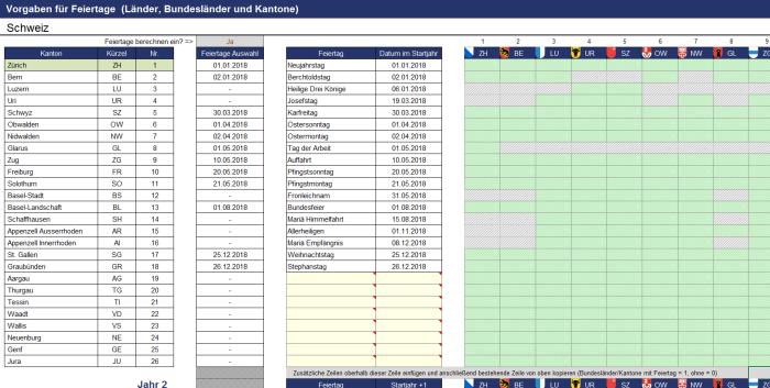 Excel-Projektplanungstool Pro