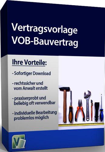 Vertragsvorlage VOB-Bauvertrag
