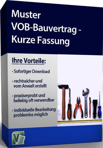 Muster VOB-Bauvertrag - Kurze Fassung